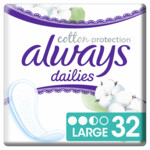 Always Dailies Inlegkruisjes Cotton Protection Large