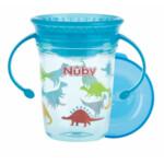 Nuby 360° Wonder Cup met Handvatten in Tritan 6+m Blauw