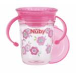 Nuby 360° Wonder Cup met Handvatten in Tritan 6+m Roze