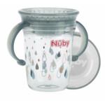 Nuby 360° Wonder Cup met Handvatten in Tritan 6+m Grijs