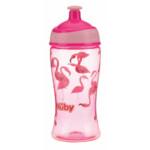Nuby Sportieve Pop-Up Drinkbeker uit Tritan 3+j Roze